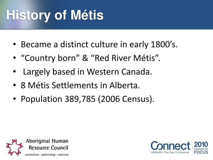 History of Métis