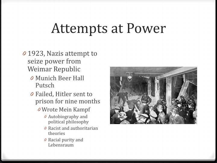 Attempts at Power