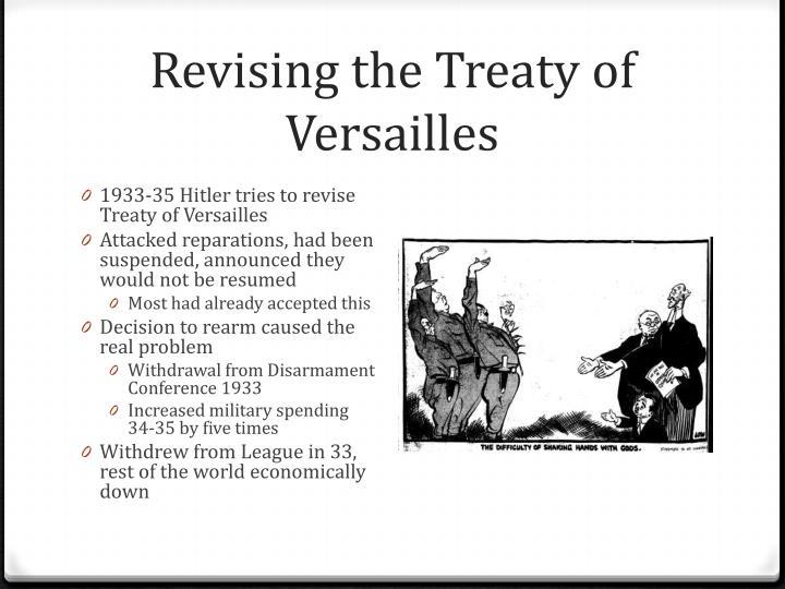 Revising the Treaty of Versailles