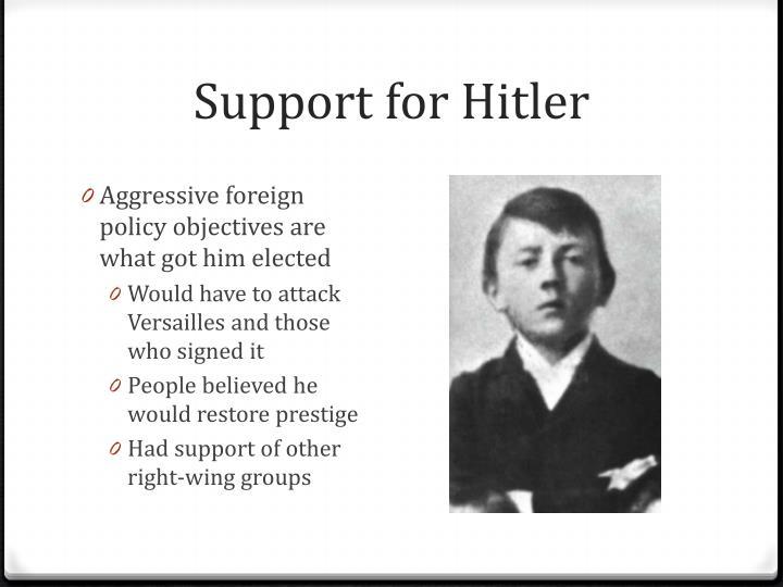Support for Hitler