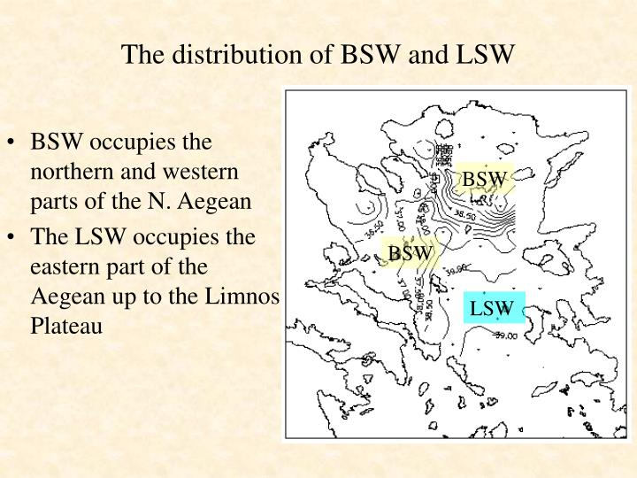 The distribution of BSW and LSW