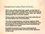 auspicious lotus feet of lord