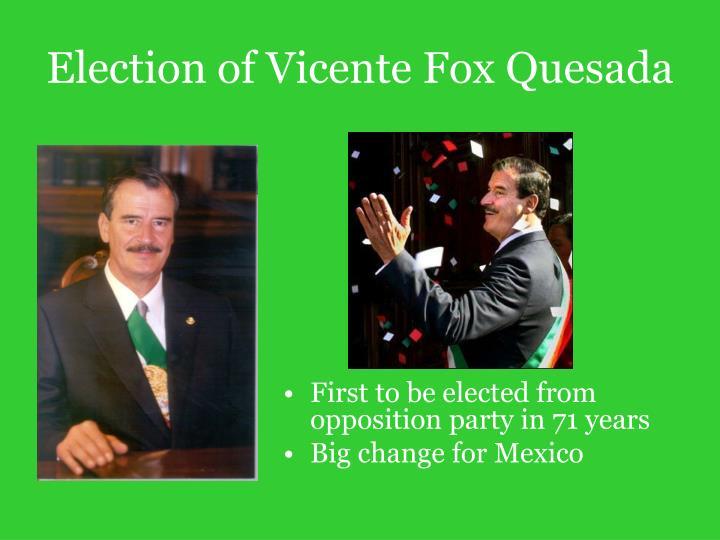Election of Vicente Fox Quesada