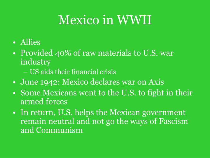 Mexico in WWII