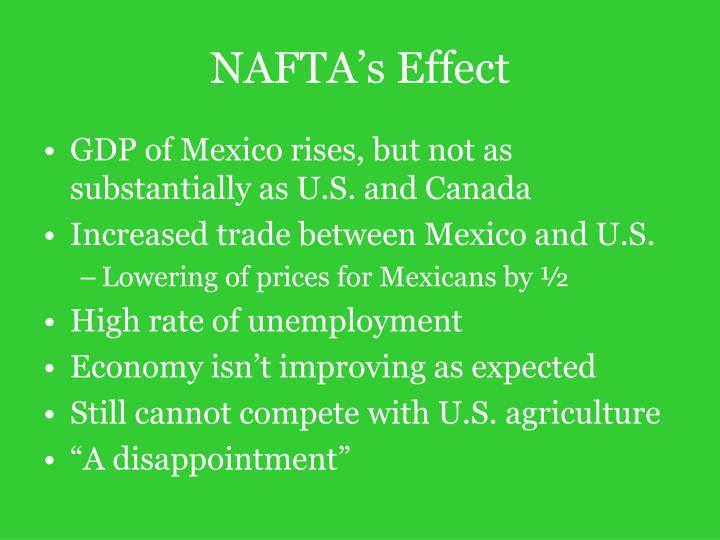 NAFTA's Effect
