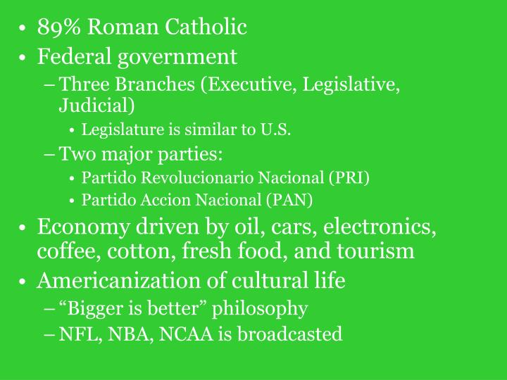 89% Roman Catholic