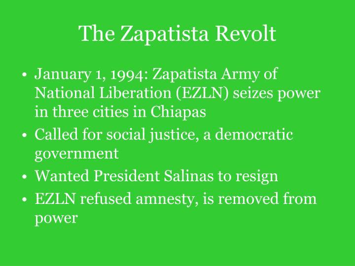 The Zapatista Revolt