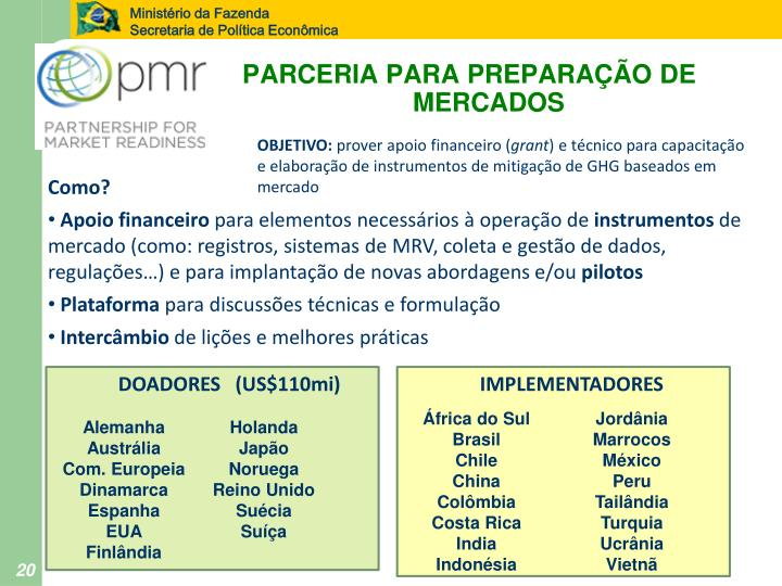 PARCERIA PARA PREPARAÇÃO DE MERCADOS