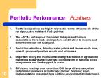 portfolio performance positives