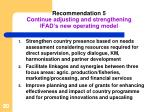 recommendation 5 continue adjusting and strengthening ifad s new operating model