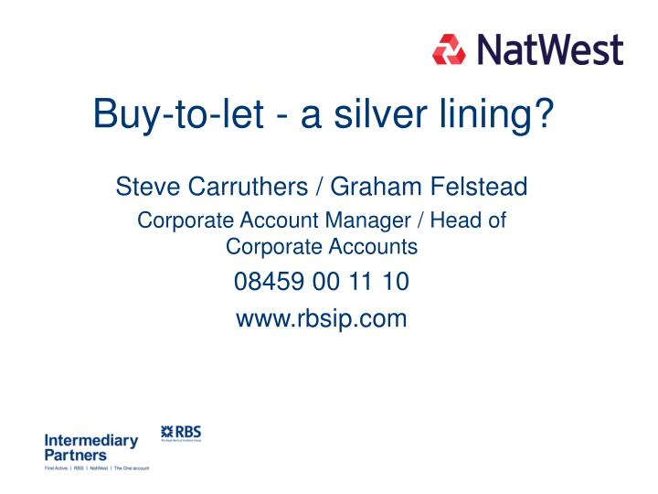 buy to let a silver lining