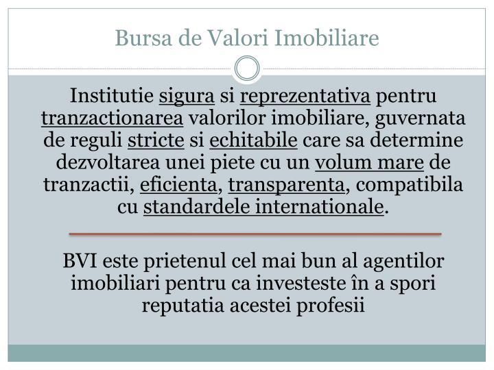 Bursa de Valori Imobiliare