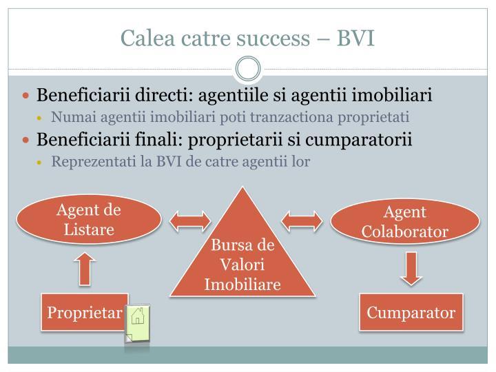 Calea catre success – BVI