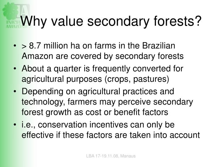 Why value secondary forests