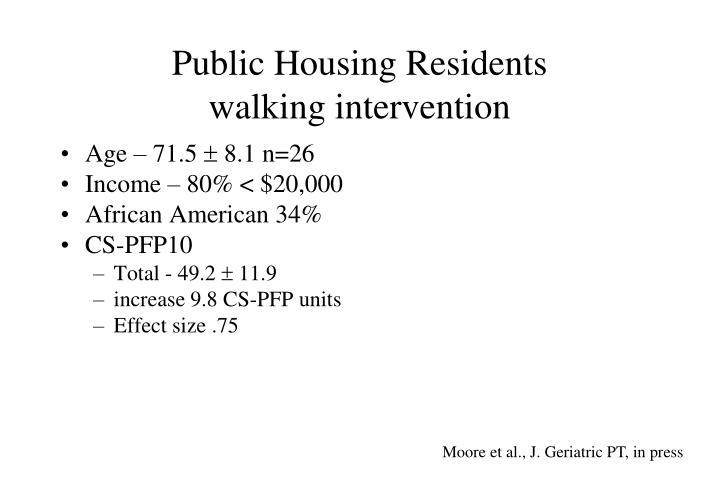 Public Housing Residents