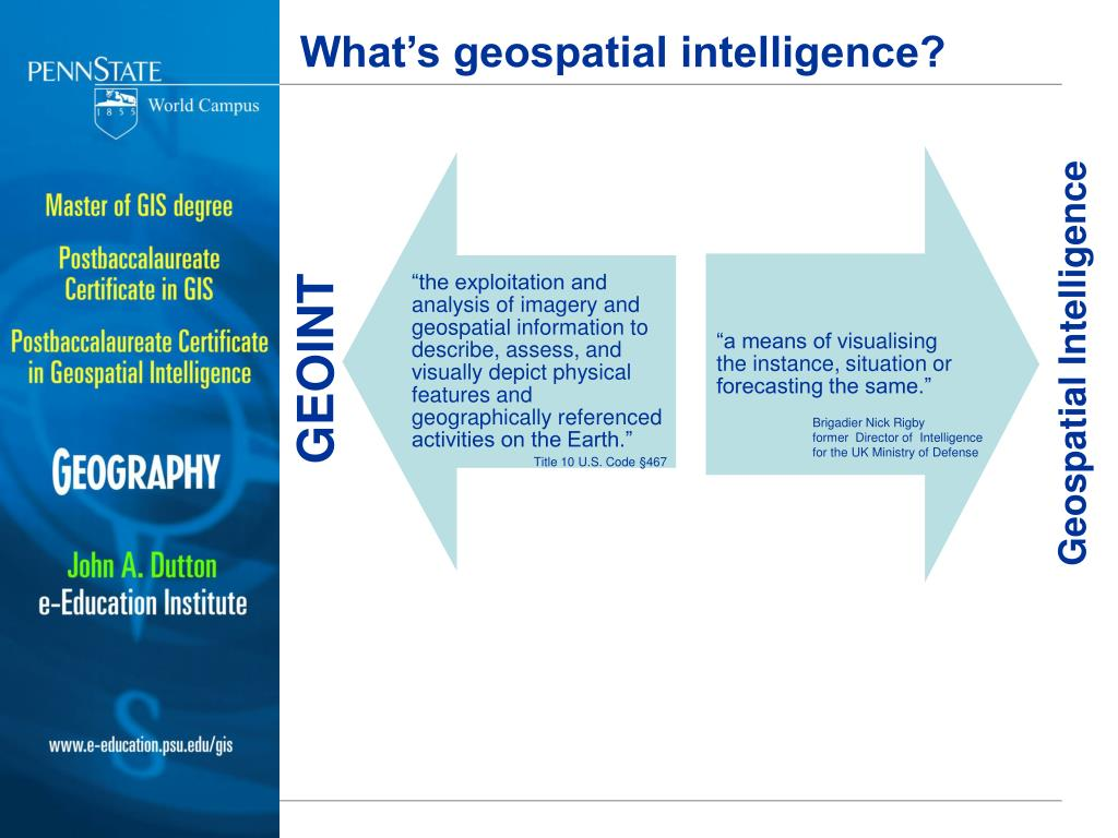 PPT - Counterinsurgency and the Education of the GEOINT