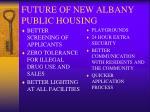 future of new albany public housing