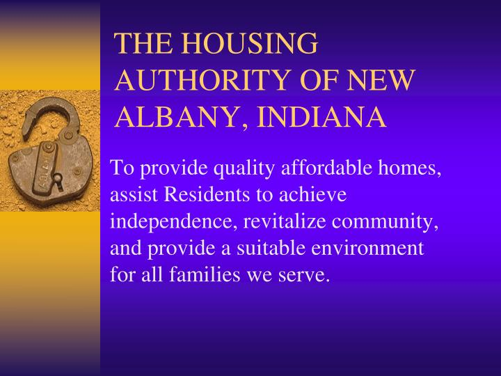 the housing authority of new albany indiana n.