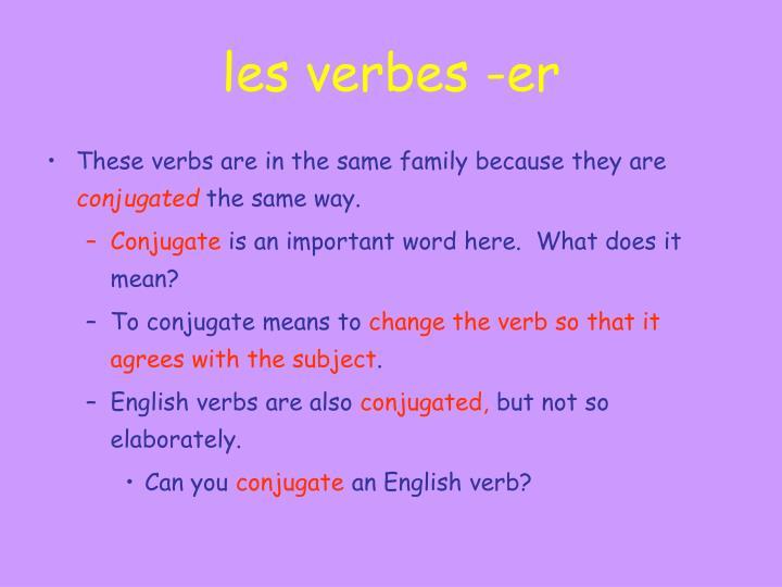 Les verbes er1