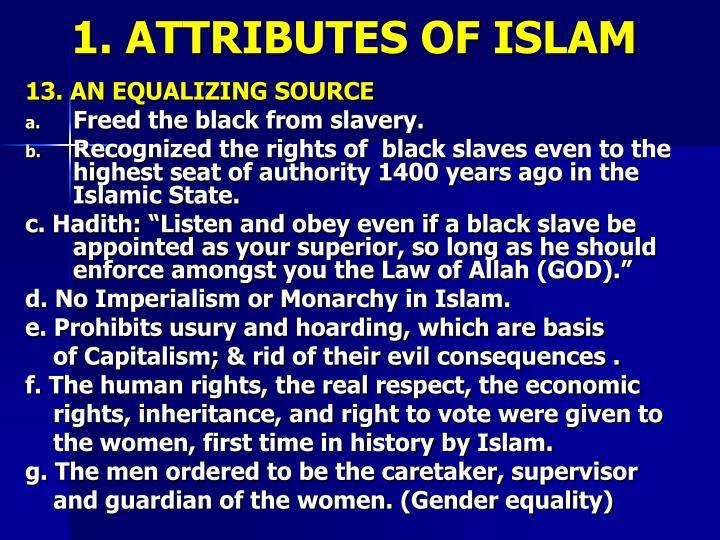 1. ATTRIBUTES OF ISLAM