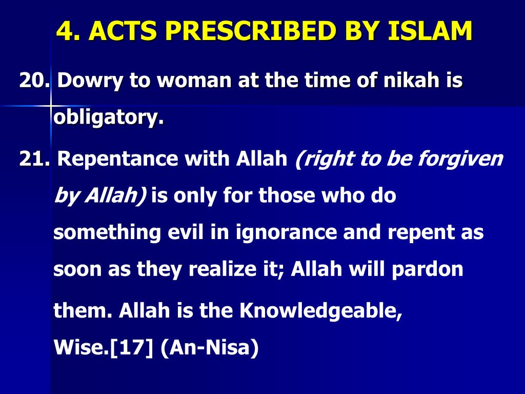 PPT - ISLAMIC STUDIES ATTRIBUTES OF ISLAM (Lecture:12) Dr