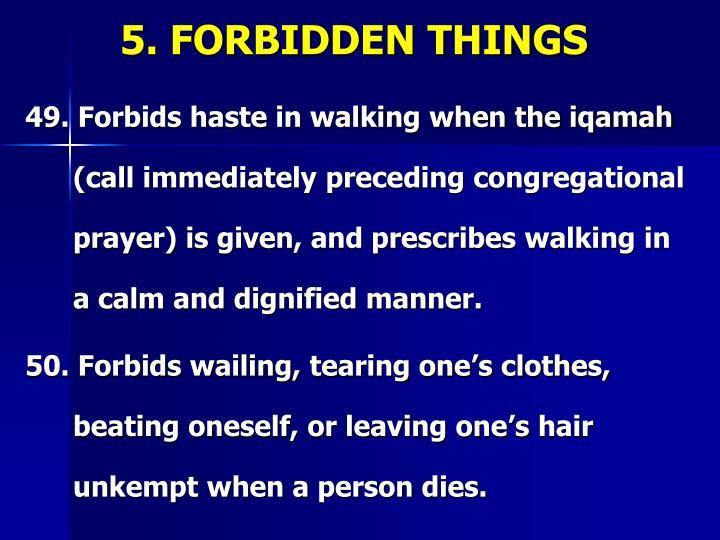 5. FORBIDDEN THINGS