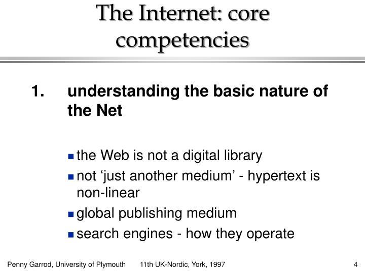 The Internet: core competencies
