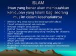 islam iman yang benar akan membuahkan kehidupan yang islami bagi seorang muslim dalam kesehariannya
