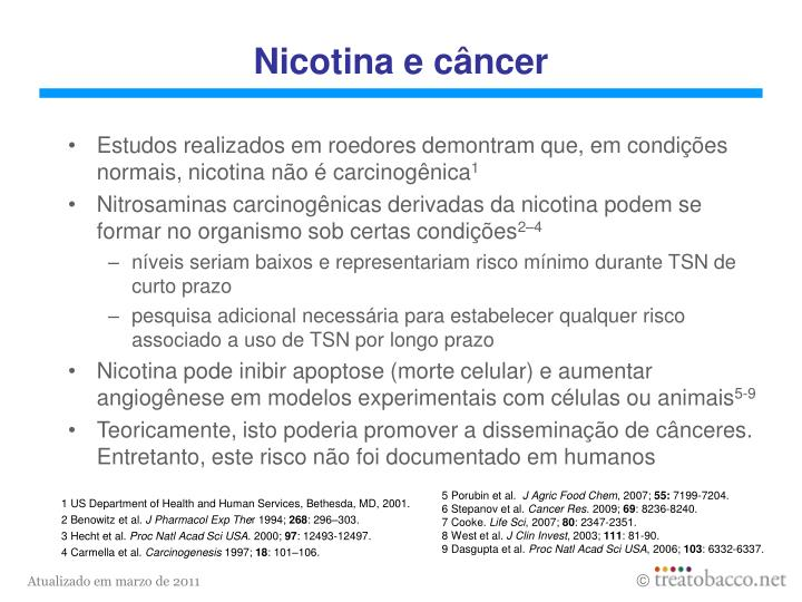 Nicotina e câncer