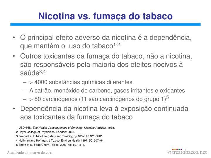 Nicotina vs fuma a do tabaco