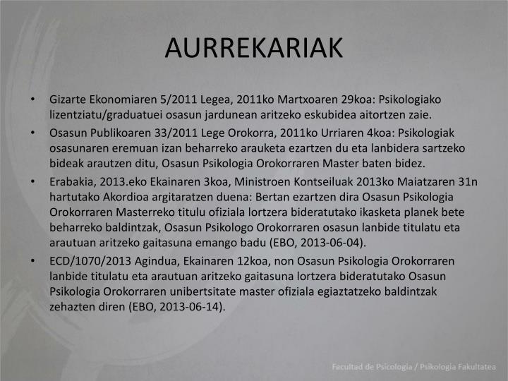 Aurrekariak