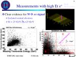measurements with high et e3