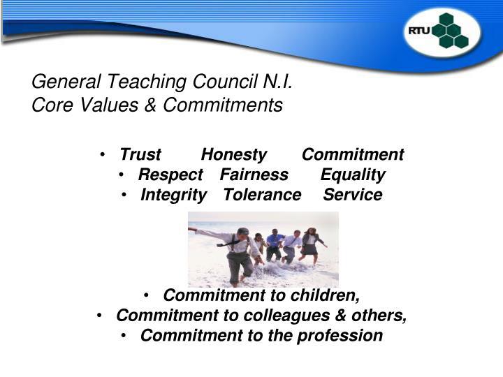 General Teaching Council N.I.