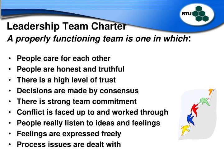 Leadership Team Charter