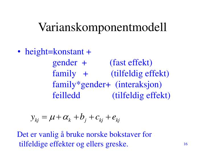 Varianskomponentmodell