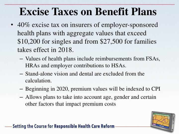 Excise Taxes on Benefit Plans