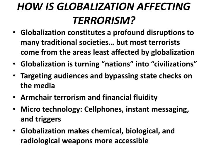 how has globalization affected your life How has globalization benefited the poor what impact globalization has had on the poorest better-educated individuals tend to do better in life on many.