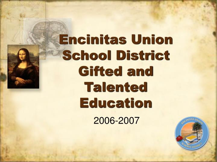encinitas union school district gifted and talented education n.