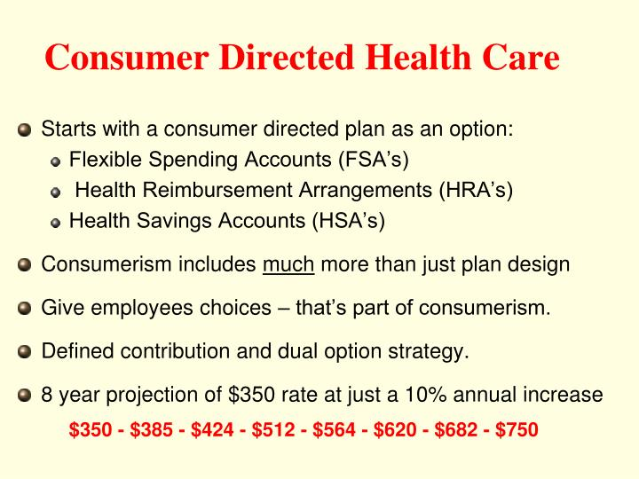 Consumer Directed Health Care