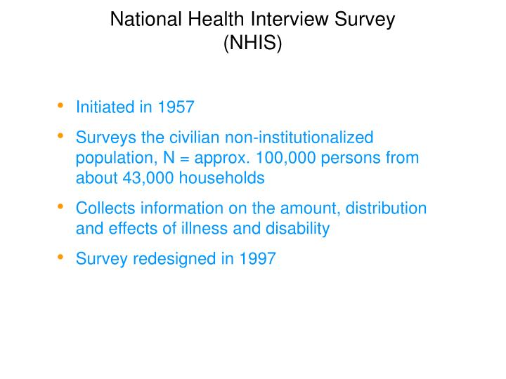 National Health Interview Survey