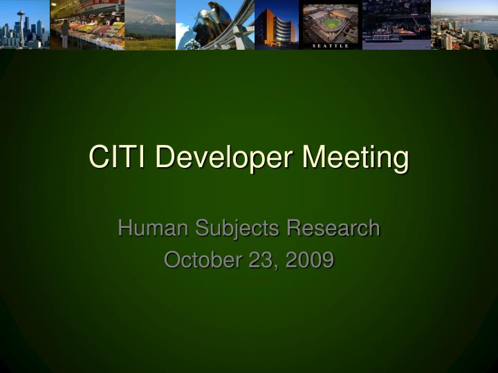 citi developer meeting n.