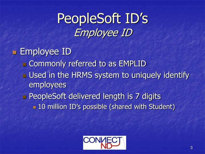 Peoplesoft id s employee id