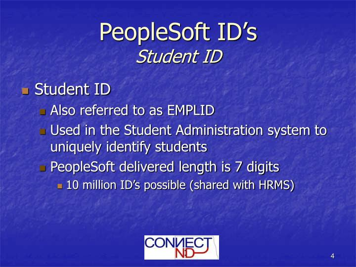PeopleSoft ID's
