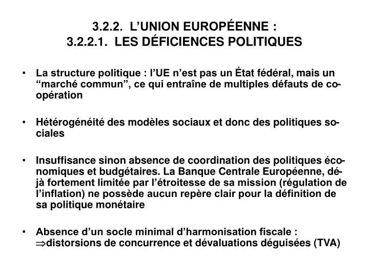 3.2.2.  L'UNION EUROP