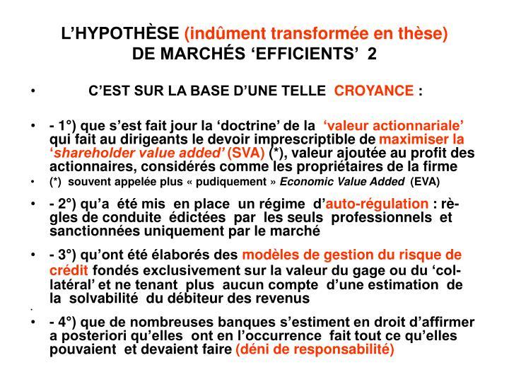 L'HYPOTH