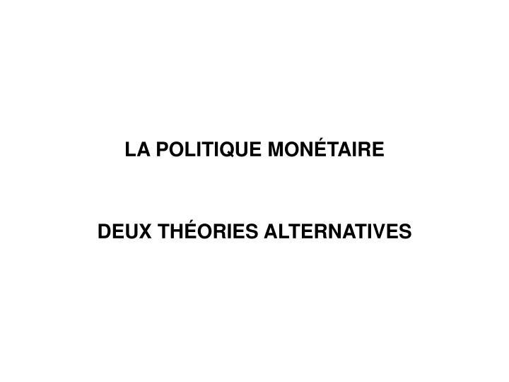 LA POLITIQUE MON