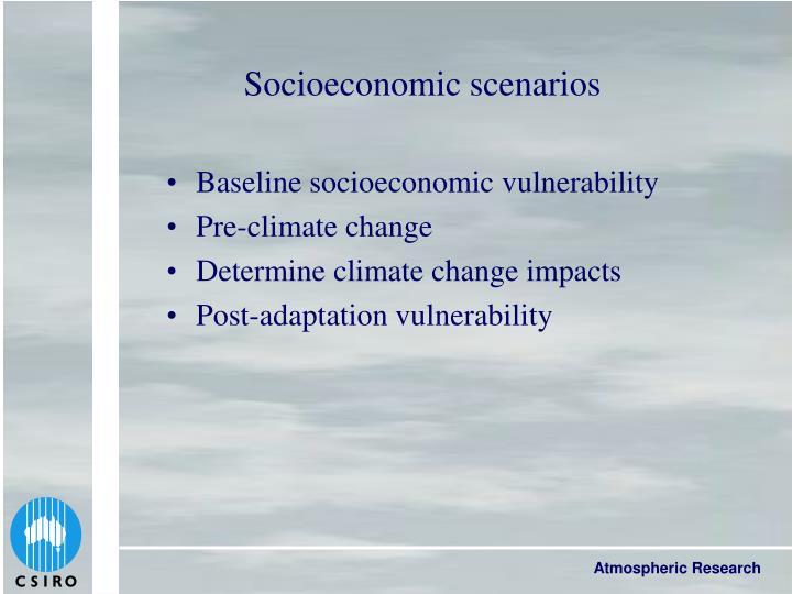 Socioeconomic scenarios