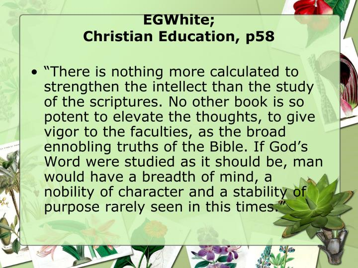 Egwhite christian education p58