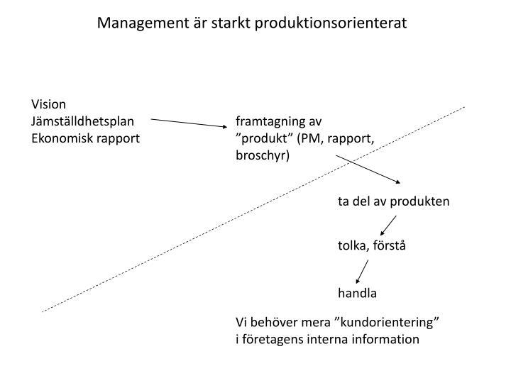 Management r starkt produktionsorienterat