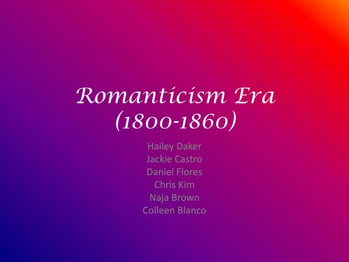 essay of romantic era Recitation & explication essay: poetry dominated the romantic era and was overwhelmingly important to both authors and readers.